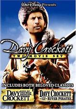 Iconic Disney Western Adventure Movies Davy Crockett 1 & River Pirates 2 on DVD