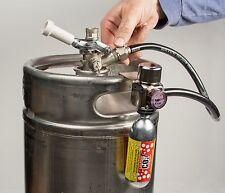 Kegerator Filled Co2 Gas Supply With Premium Regulator Hose And Hanging Bracket