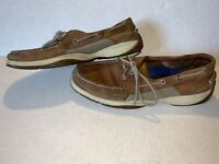 Mens 10.5 Sperry Top Sider Brown Leather Intrepid Boat Shoes 0276308