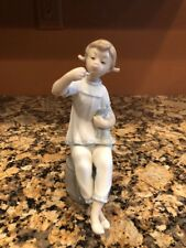 """Lladro 1083 """" Girl With Lipstick & Doll """" Porcelain Figurine Retired"""