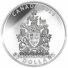 Canada 2016 Coat of Arms High Medallic Relief Piedfort $25 Pure Silver Proof
