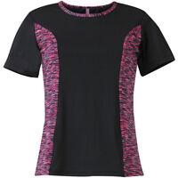 Jako t-shirt run señoras negro tshirt camisa manga corta Sport Fitness
