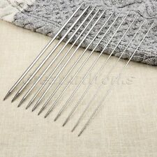 11 Size 25cm Stainless Steel Double Pointed Knitting Needles Yarn Tool 44pcs/set