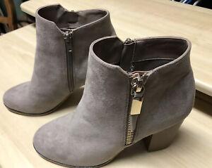 Apt 9 Ankle Boots Timezone Taupe Faux Suede Women's Sz 7.5 NIB