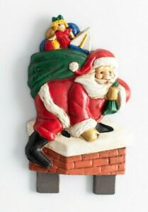 Santa Claus Christmas Door Knocker Top Topper, Midwest of Cannon Falls. Rare! CF