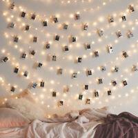 Guirlande Lumineuse LED Avec Clips Photo Clairs Pour Décoration Intérieure /
