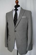 Men's New Alexandre Savile Row Grey Tailored Fit Suit 38R W32 L29 AA603