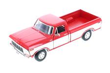 1979 Ford F-150 Pickup Truck Blue 1:24 Scale Diecast CAR Model 79346 Red & Cream