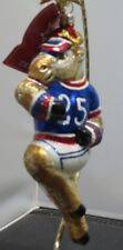 Slavic Treasures Football Reindeer New Glass Christmas Ornament Poland Retired