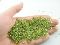 1700+Pcs Nature  Peridot Olivine Quartz Crystal Stone Rock Chip Specimen Healing