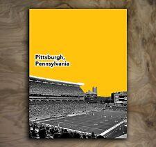 "Pittsburgh Steelers Sports Poster NFL Art Print Rare Hot New 12x16"""