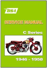BSA Workshop Manual  C10 C10L C11 C11G and C12  1946 to 1958 FACTORY Repair