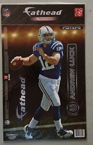 """Andrew Luck Fathead Teammates - Indianapolis Colts 9"""" x 16.5"""" NEW"""