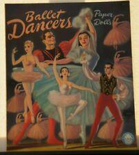 Original Vintage 1947 Ballet Dancers Paper Dolls by Merrill (uncut)
