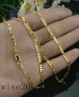 "2MM 18k Yellow Gold Filled Twist Link Chain Necklace Wedding Jewelry 16-30""-1PC"