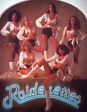 Vintage 1978 Oakland Raiders Raiderettes Cheerleaders Iron-On Transfer Football