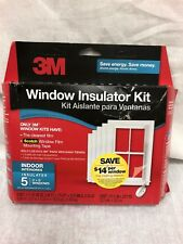 3M Window Insulator Kit - 5 Window Kit - Includes Window Film and Mounting Tape