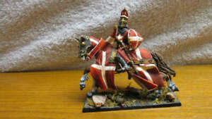 Highly Detailed Saint Petersburg Russian made Painted Metal Mounted Knight