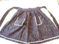 Apron Vintage Half Apron 1970's Handmade Red-white-Blue Stars Print Cotton
