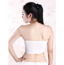 Black or Cream Petite Women Bandeau XS Stretch Boob Tube Top Strapless Bra Vest