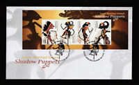 Cocos (Keeling) Islands 2018 : Shadow Puppets - First Day Cover with Minisheet