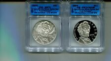2009 ABRAHAM LINCOLN $1 BU AND PROOF COMMEMORATIVE SET ICG MS70 PR70 /570 3020M