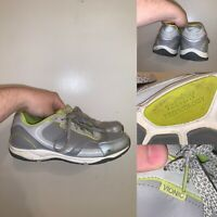 Vionic Zen Silver Walker Orthopedic Shoes Womens Size 9.5 Walking Shoes Lace Up