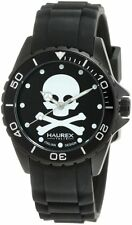 Haurex Women's 1K374XNS Ink Luminous Black Dial Black Rubber Wristwatch