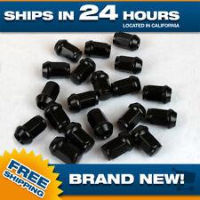 New 1/2x20 lug nuts Black Acorn Bulge wheel nut Set of 20 lugnuts closed end