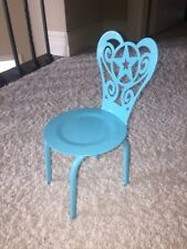 "American Girl Gourmet KITCHEN CHAIR ONLY for 18"" dolls NEW Teal Blue"