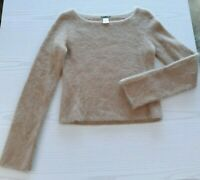 J. Crew Women's Angora Rabbit Fur Cropped Fuzzy Sweater - M