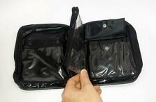 Black Vinyl Zippered Waterproof Cosmetic &/ or Toiletry Bag