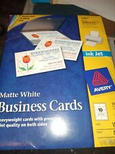 New Avery 27881 Inkjet Business Cards Matte White 150 Cards 2 X 3 12 Inch