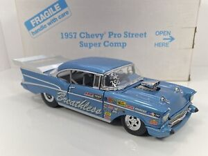 """Danbury Mint 1/24 Scale 1957 Chevy Pro-Street """"SUPER COMP VERSION"""" VERY DETAILED"""