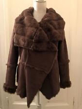 Montone ecologico marrone FORNARINA faux fur suede brown jacket coat M