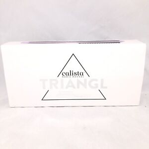 Calista Maria McCool Triangl Heated Hair Brush Styler Ceramic Tourmaline Purple