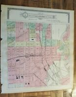 Antique MAP-PART 5 OF THE CITY OF KALAMAZOO & ENVIRONS, Michigan/Ogle & Co. 1910