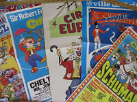 Circus Poster Lot Art Artistic Funny Children Vintage Original Europe Foreign