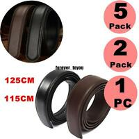 5X 2X Fashion Men's Belt Leather Waist Strap Belts Without Automatic Buckle Lot