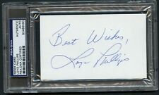 Loyd Phillips signed autograph 3x5 index card College Football Hall of Fame PSA