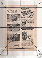 Vintage 1965 Popular Mechanics Magazine Ad A110 Simplicity BSA Lightning 2+2 GTO