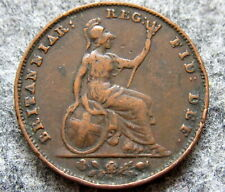 GREAT BRITAIN QUEEN VICTORIA 1853 FARTHING, COPPER