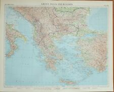1956 LARGE MAP GREECE AEGEAN BULGARIA CYCLADES THESSALIA PELOPONNISIS ATHENS