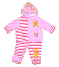 """Baby girl """"What a lovely day"""" Pooh Hooded Jacket Set"""