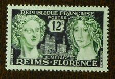 FRANCE 1956 12fr Reims Florence Friendship vf Mint never hinged MNH SG 1286