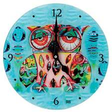 Reloj De Pared Allen Designs Gato y colección de Búho Búho Nuevo D117 En Caja