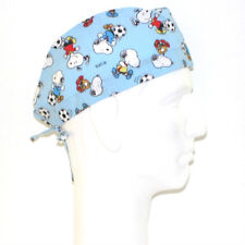 Peanuts Gang Snoopy Playing Soccer theme scrub hat