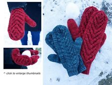 Ladies, Mens & Childrens Cable Mittens Knitting Pattern