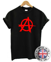ANARCHY T Shirt S-XXL Mens Womens anarchic rebel red green white