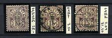 SWITZERLAND 1882-1899 Scott 76 Three Shades Used CV€63.00